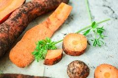 моркови отрезали Стоковое Фото