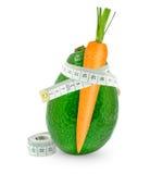 Моркови с авокадоом Стоковое Изображение
