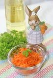 Морковь в стеклянной чашке Стоковые Изображения RF