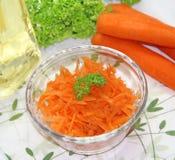 Морковь в стеклянной чашке Стоковое Изображение