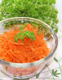 Морковь в стеклянной чашке Стоковая Фотография