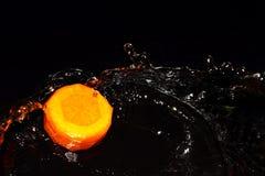 Морковь и вода Стоковое Изображение