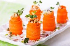 Морковь Крен-поднимает Стоковые Изображения RF