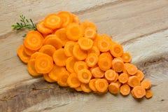 Морковь на деревянной предпосылке Стоковая Фотография