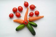 Морковь огурца томата Стоковые Фотографии RF