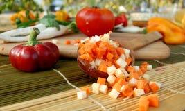 морковь отрезанная parsely Стоковое Изображение RF