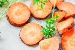 морковь отрезала Стоковая Фотография RF