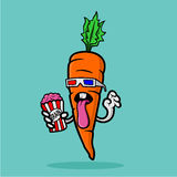 морковь стекел 3d есть мозг шипучки Стоковые Фото