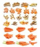 Морковь турмерина изолированная на белой предпосылке Стоковое Изображение