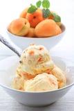 Мороженное абрикоса Стоковые Фотографии RF