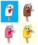 Счастливые мороженные персонажа из мультфильма Стоковое фото RF