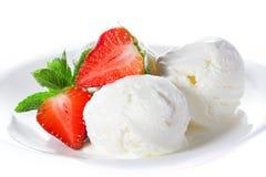 Мороженое ванили Стоковое Фото