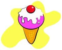 мороженое вишни Иллюстрация вектора