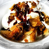 Мороженое воскресенье бахлавы Стоковая Фотография