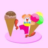 Мороженое в горячем лете Стоковое фото RF
