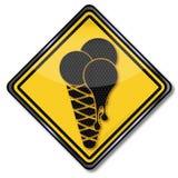 Мороженое в лете иллюстрация штока