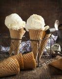 Мороженое в конусе waffle Стоковые Изображения