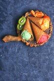 Мороженое лета с плодоовощ Стоковые Фотографии RF