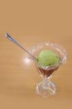 Мороженое зеленого чая стоковые изображения