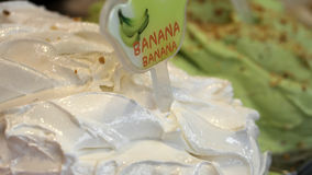 Мороженое итальянки gelato банана Стоковое Фото