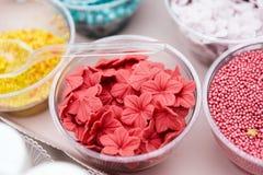 Мороженое и пирожные брызгают не отбензинивания и украшения pareil Стоковое фото RF