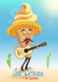 Мороженое на гитаре Стоковые Фото