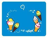 мороженое, покрашенная еда, yummy, десерт, очень вкусный, холодный, бесплатная иллюстрация