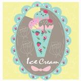Мороженое помадки логотипа Стоковое Фото