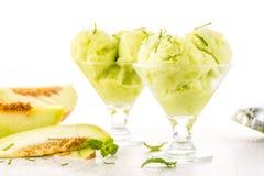 Мороженое приправленное дыней Стоковое Фото
