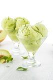 Мороженое приправленное дыней Стоковое Изображение RF