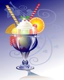 мороженое синего стекла иллюстрация вектора
