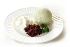 Мороженое с красными фасолями Стоковая Фотография