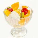 Мороженое с плодоовощ в glass3 Стоковое Изображение RF