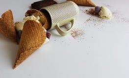 Мороженое упало Стоковая Фотография RF