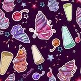 Мороженое усмехается безшовная картина бесплатная иллюстрация