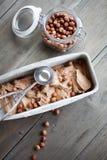 Мороженое фундука шоколада Стоковая Фотография