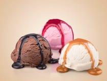 Мороженое шоколада, ванили и клубники с Стоковое фото RF