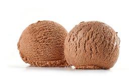 Мороженое шоколада на белой предпосылке стоковые изображения