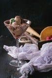 Мороженое шоколада с полениками Стоковое фото RF