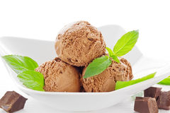 Мороженое шоколада Стоковое Фото