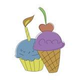 мороженое иллюстрация вектора