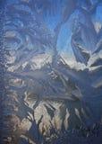 Морозная естественная картина на зиме Стоковые Фото