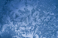 Морозная естественная картина на окне Стоковое Изображение
