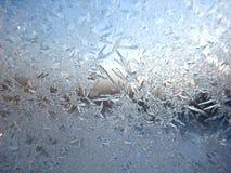 Морозная картина на окне зимы Стоковое Изображение RF