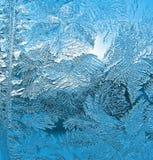 Морозная картина на форточке Стоковое Фото