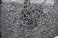 Морозная картина на Windows Стоковая Фотография RF