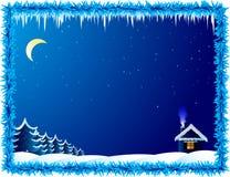 морозная ноча Стоковые Фото