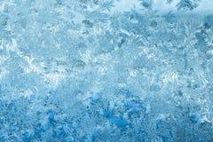 Морозная стеклянная предпосылка льда, естественная картина Фон зимы абстрактный Стоковое Фото