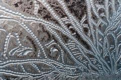 Морозная текстура на стекле стоковое изображение rf