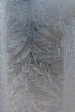 Морозная текстура на стекле Стоковые Фотографии RF